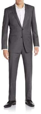 Calvin Klein Extreme Slim-Fit Pinstriped Wool Suit