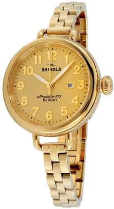 Shinola Women's The Birdy 34mm Steel Bracelet & Case Quartz Watch 10000211