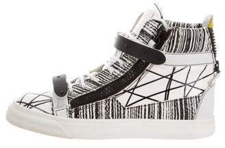 Giuseppe Zanotti patent Leather High-Top Sneakers
