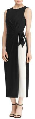 Ralph Lauren Sleeveless Color-Block Dress
