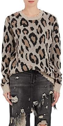 R 13 Women's Leopard-Print Cashmere Sweater