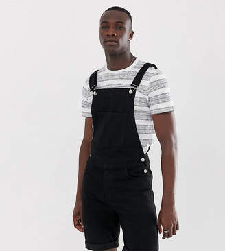 Asos Design DESIGN Tall shorts overall in black