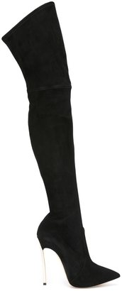 Casadei stretch over-the-knee boots $1,393 thestylecure.com