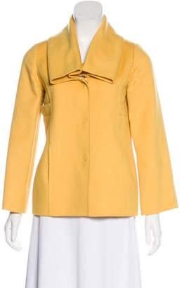 Oscar de la Renta Camel Button-Up Jacket