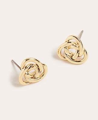 Ann Taylor Knotted Metal Stud Earrings