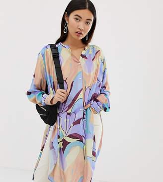 Weekday pastel floral longline shirt