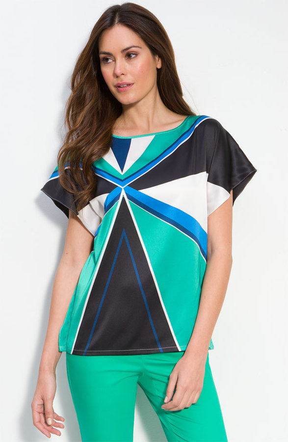 Vince Camuto Geometric Print Blouse