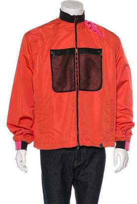 Valentino 2017 Mesh-Accented Windbreaker Jacket w/ Tags