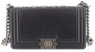 Chanel Vintage Leather Boy Chain Shoulder Bag