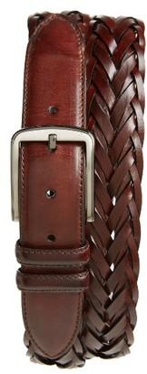 Men's Magnanni Woven Leather Belt $115 thestylecure.com