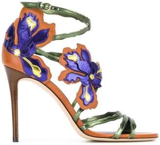 Jimmy Choo Lolita 100 floral sandals
