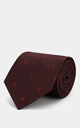 Alexander McQueen Men's Skull-Dot Silk Necktie - Wine
