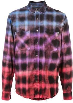 Amiri tie-dye check shirt