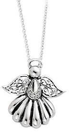 "Sentimental Expressions Sterling 18"" Angel Necklace"