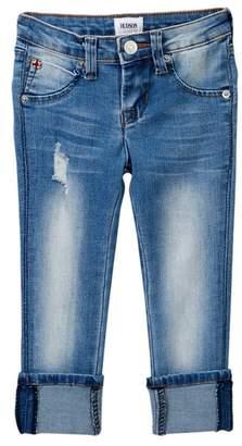 Hudson Skinny Roll Cuff Crop Jeans (Little Girls)