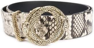 Just Cavalli snakeskin pattern belt