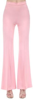 Marianna Senchina High Waist Flared Viscose Crepe Pants