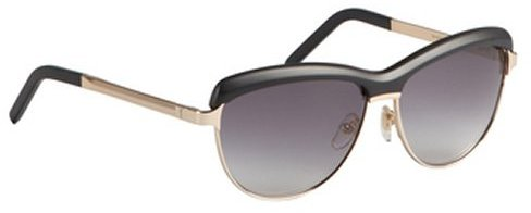 Yves Saint Laurent black acrylic and metal cat-eye sunglasses