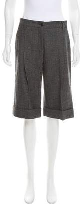 Dolce & Gabbana Cuffed Wool Shorts w/ Tags