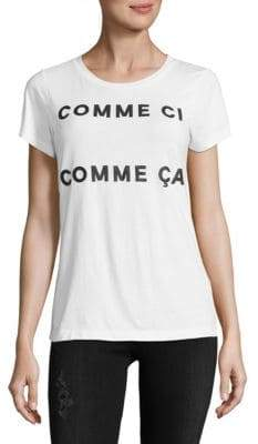 French Connection Graphic Cotton Tee