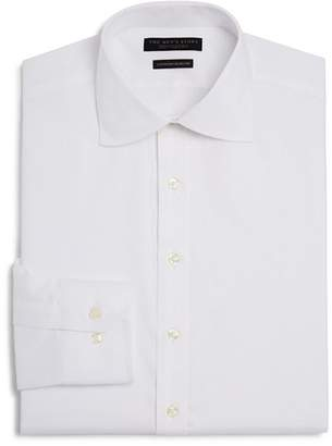 Bloomingdale's The Men's Store at Twill Solid Regular Fit Basic Dress Shirt - 100% Exclusive