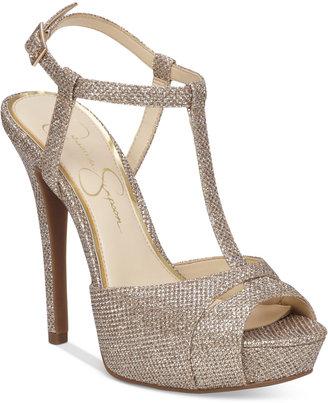 Jessica Simpson Barretta T-Strap Platform Dress Sandals $89 thestylecure.com