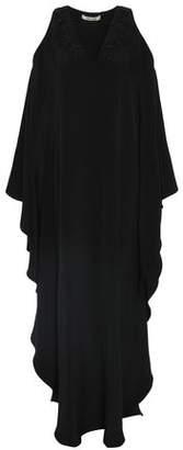 Roberto Cavalli Cold-Shoulder Embellished Silk Crepe De Chine Gown