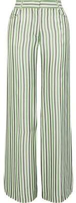 Sonia Rykiel Striped Poplin Wide-Leg Pants