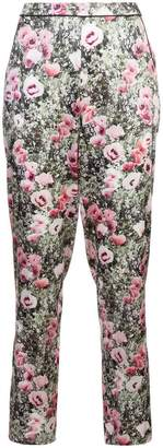 Fleur Du Mal poppy printed tailored trousers