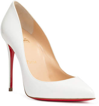 Christian Louboutin Pigalle Follies 100 patent white pumps