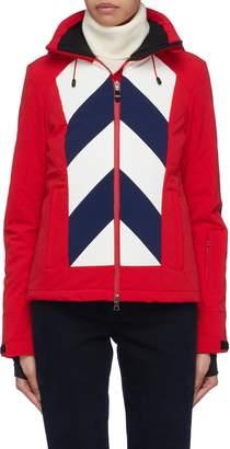 Perfect Moment 'Tignes' detachable hood chevron stripe ski jacket
