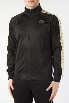 Kappa Men's Anniston Slim 222 Banda Track Jacket, Black/White/Gold