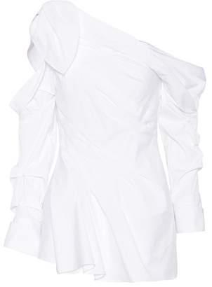 Monse Asymmetric cotton-blend top