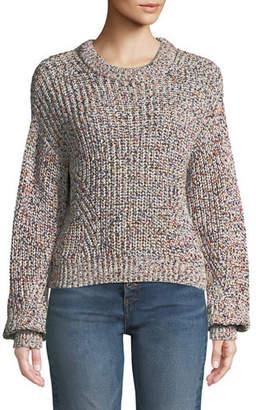 Veronica Beard Ryce Cotton Crewneck Pullover Sweater