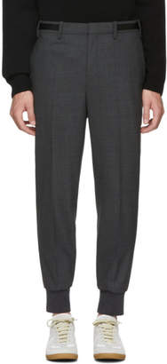 Neil Barrett Grey Side Strap Trousers
