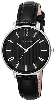 6bd8b96325 Cross [クロス 腕時計 ブラック文字盤 カーフレザーベルト CR9052-01 メンズ 【正規