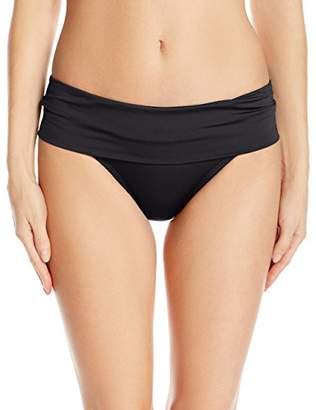 Jantzen Women's Solid Shirred Waist Bikini Bottom $30.60 thestylecure.com