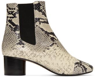 Isabel Marant White Danae Boots