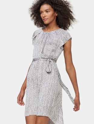 Halston Cap Sleeve Dress With Sash