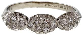 Vintage Art Deco Platinum with 0.27ct Diamond Wedding Band Ring Size 4.75