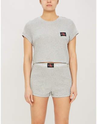 Calvin Klein Monogram cotton-blend pyjama shorts
