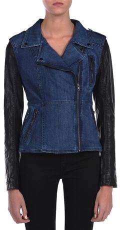 Blank NYC Denim and Vegan Leather Jacket