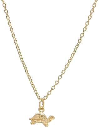 Best Silver Inc. 14K Solid Gold Turtle Pendant Necklace