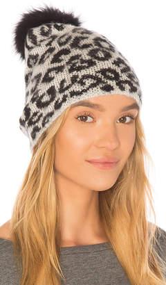 Jocelyn Knit Hat With Fox Pom