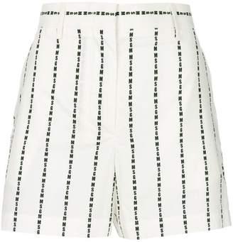 MSGM logo stripe shorts