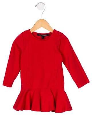 Lili Gaufrette Girls' Ruffle-Accented Knit Dress