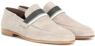 Brunello Cucinelli Embellished suede loafers