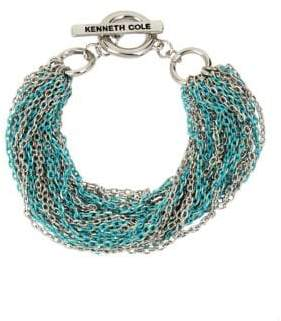 Kenneth Cole New York Aqua Chain Crystal Multi-Row Chain Bracelet