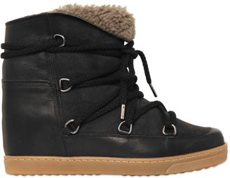 Etoile 70mm Nowles Suede Shearling Boots $810 thestylecure.com