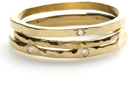 Tracy Matthews 18K Gold Stackable Rings